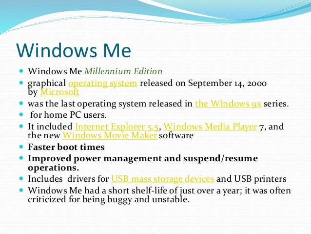 features of windows operating system