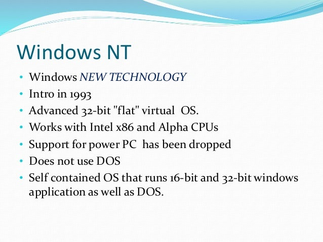 the characteristics of windows 98 an operating system Windows 2000 is also the first windows version to support hibernation at the operating system level (os-controlled acpi s4 sleep state) unlike windows 98 which required special drivers from the hardware manufacturer or driver developer.