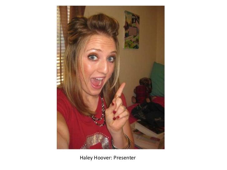 Haley Hoover: Presenter