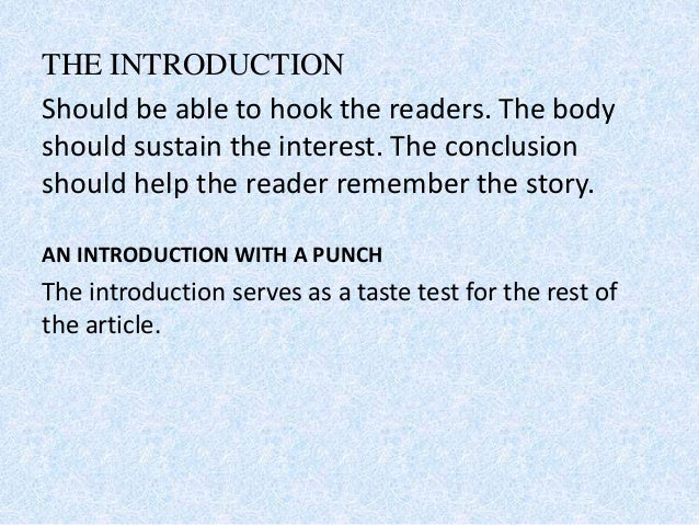 example of story with introduction body and conclusion