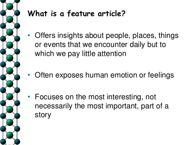 feature story examples on a person