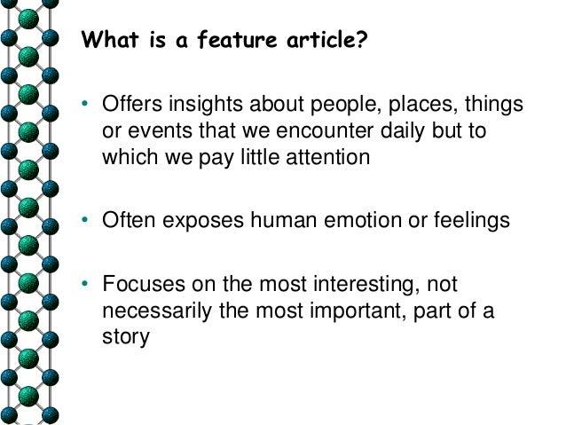 best feature articles