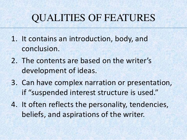 how to write a feature article ppt presentation
