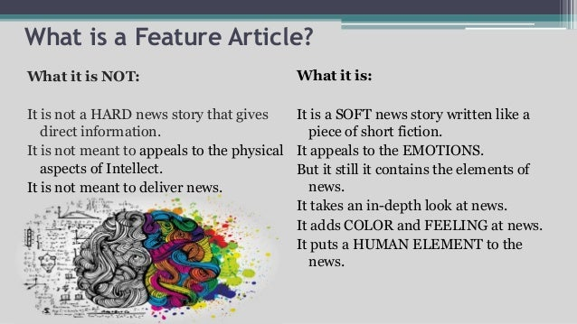 how to write an effective feature article