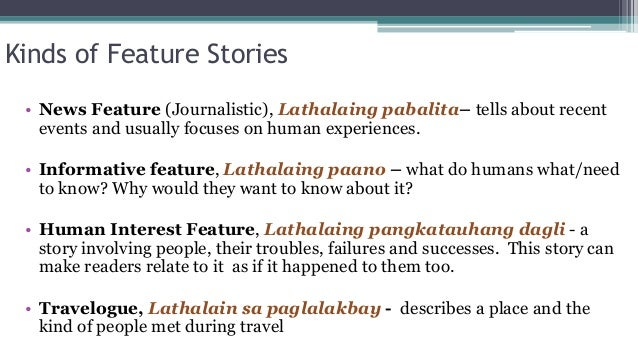 lathalaing paglalakbay Kinds of feature stories • news feature (journalistic), lathalaing  travelogue,  lathalain sa paglalakbay - describes a place and the kind of.