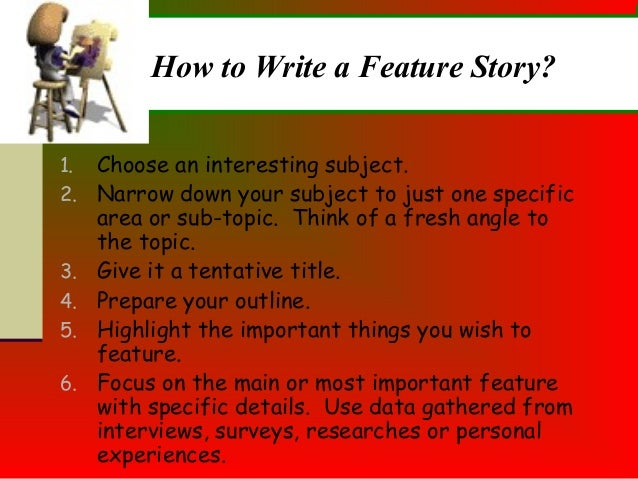 how to write good feature articles