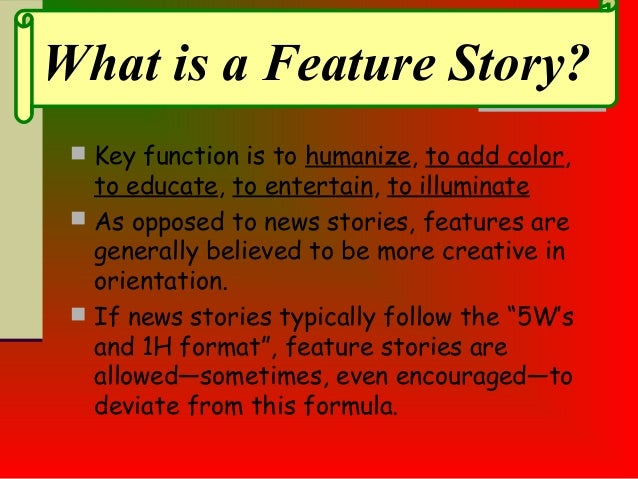 feature article structure example