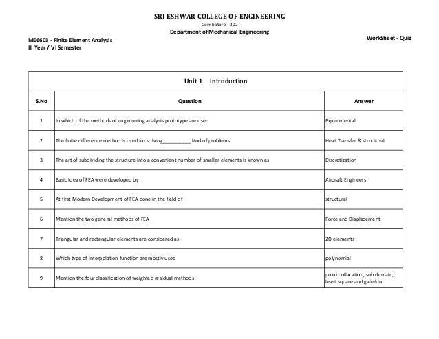 image regarding Stress Quiz Printable titled FEA Quiz - worksheets