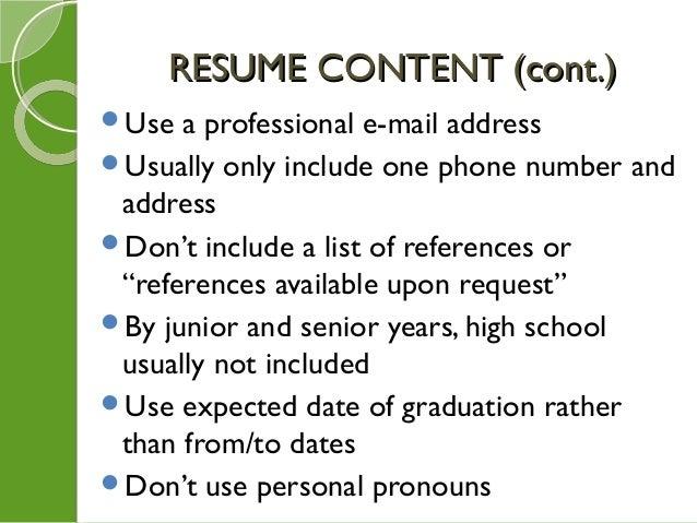 feb 9 resume search strategies