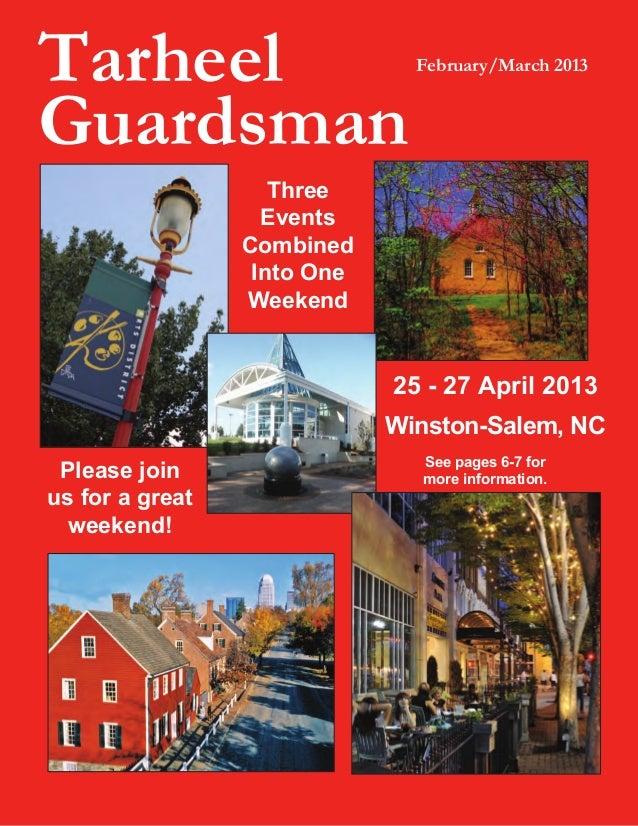 Tarheel                        February/March 2013Guardsman                    Three                   Events             ...