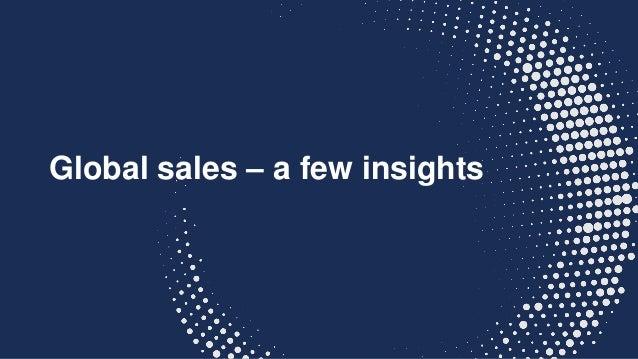 Global sales – a few insights
