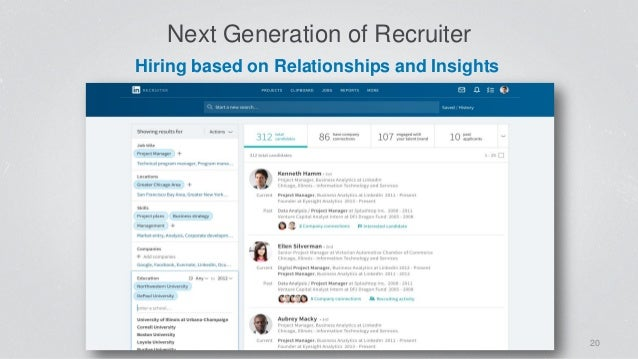 Next Generation of Recruiter 20 Hiring based on Relationships and Insights