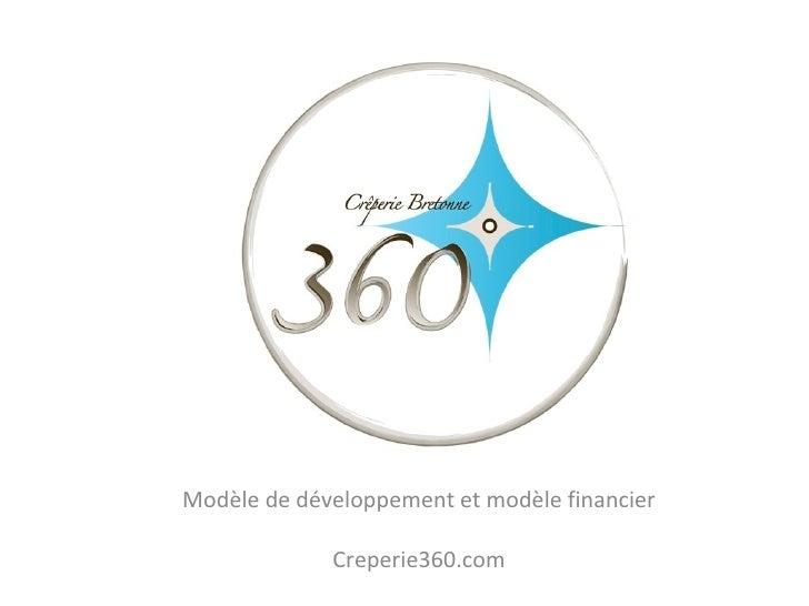 Modèle de développement et modèle financier Creperie360.com