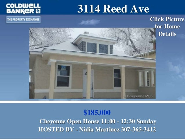 Open Houses in Cheyenne WY for Coldwell Banker The Property