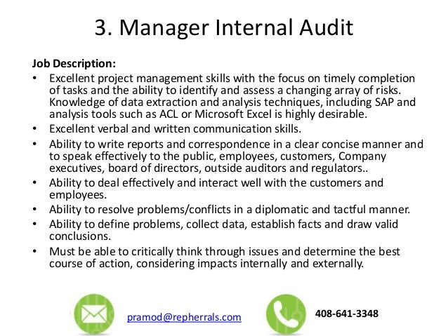Auditor Job Description