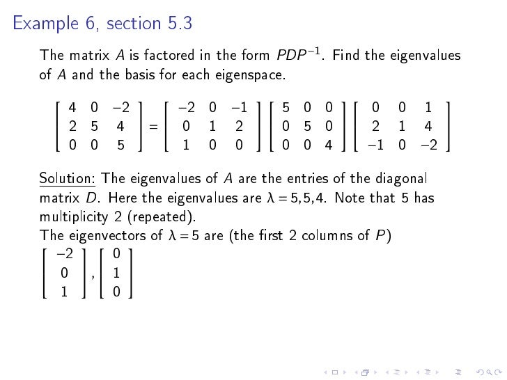 how to find a basis for an eigenspace