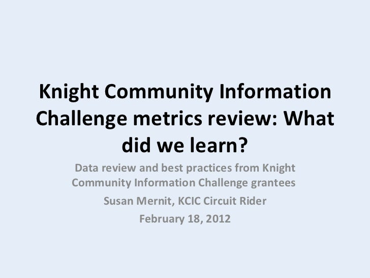Feb 18  what we learned kcic
