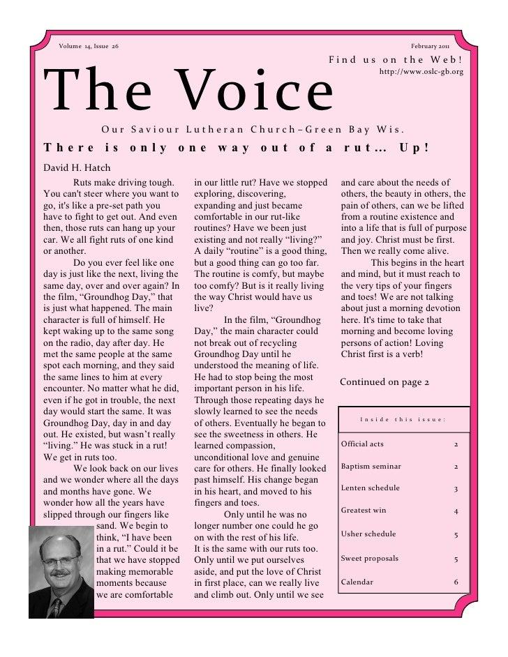Volume 14, Issue 26                                                                                 February 2011         ...
