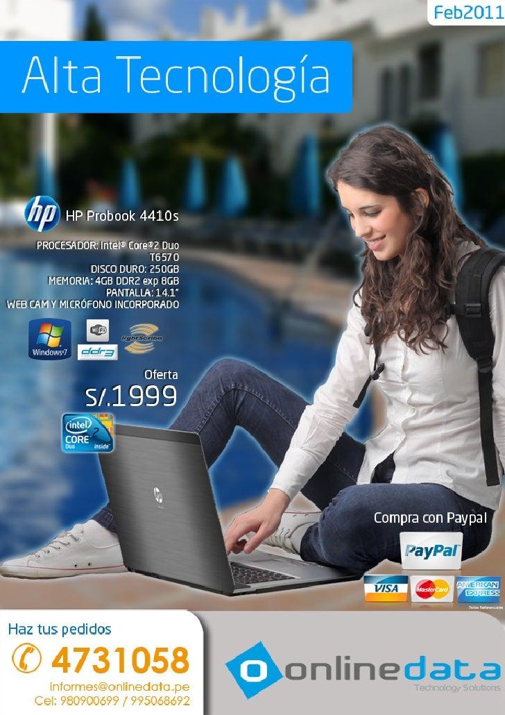 Online Data - 980900699 / 995068692 Email: ventas@onlinedata.pe - Lima Perú