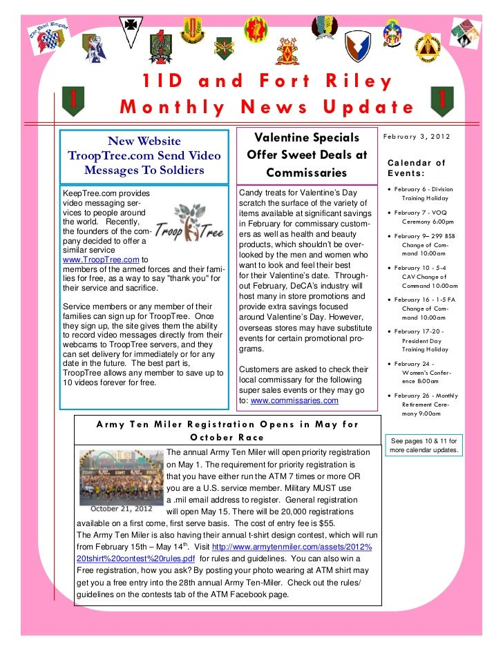 1ID and For t Riley                   Monthly News Update           New Website                                  Valentine...