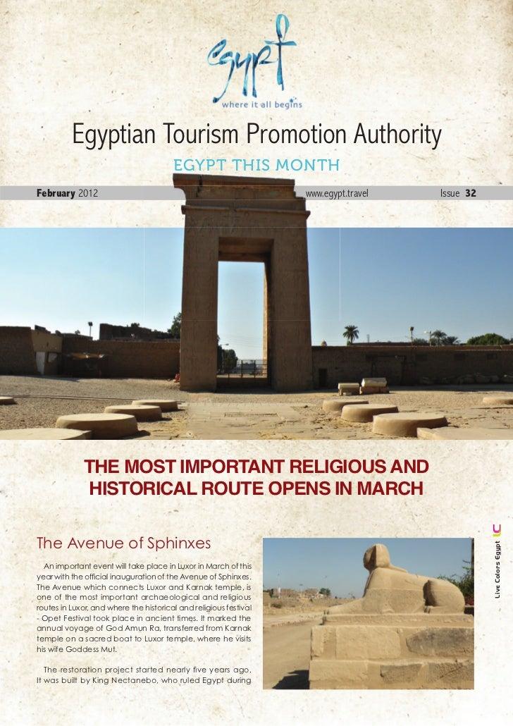 Egyptian Tourism Promotion Authority                                        EGYPT THIS MONTHFebruary 2012                 ...