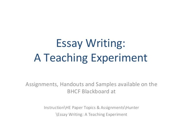 Approaches to teaching essay writing