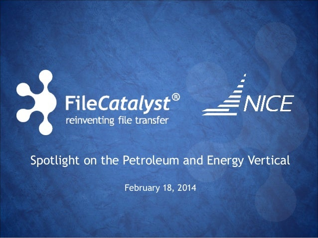Spotlight on the Petroleum and Energy Vertical  February 18, 2014