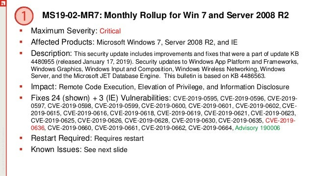 February Patch Tuesday 2019