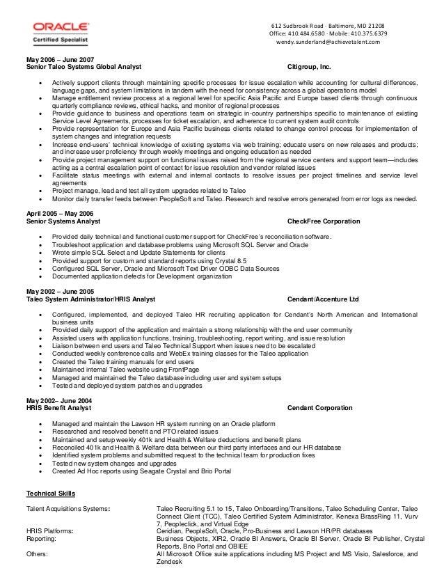 wendy sunderland bio resume