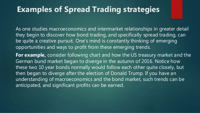 Bond spread trading strategies