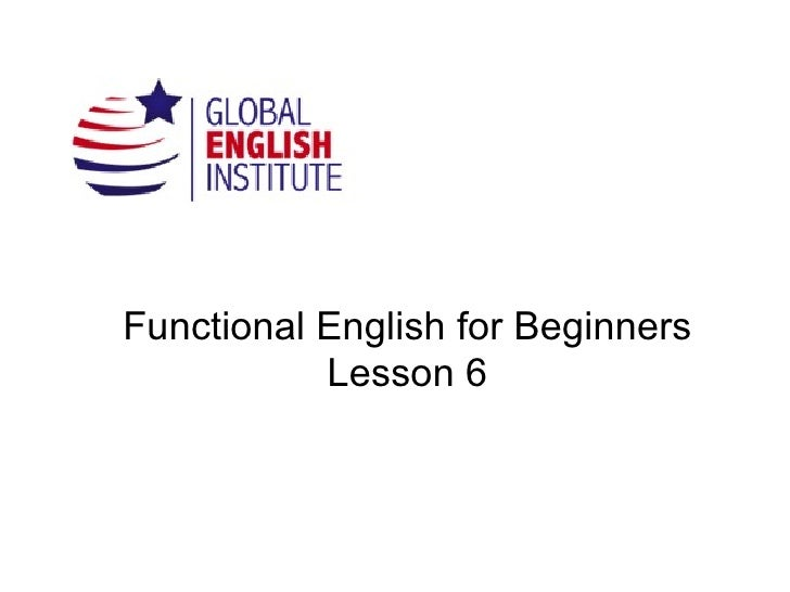 Functional English for Beginners www.inglesatumedida.com