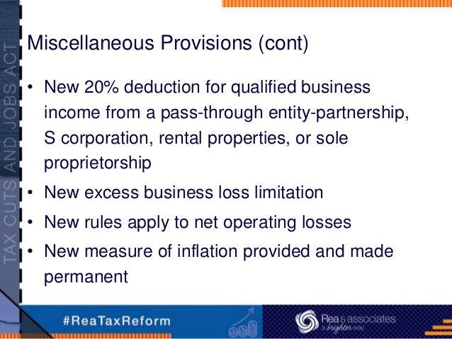 New Tax Rules Rental Properties