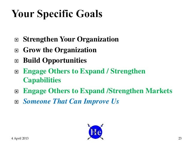  Strengthen Your Organization  Grow the Organization  Build Opportunities  Engage Others to Expand / Strengthen Capabi...