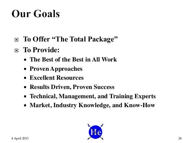 """ To Offer """"The Total Package""""  To Provide:  The Best of the Best in All Work  Proven Approaches  Excellent Resources ..."""