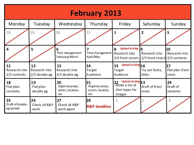 February 2013    Monday             Tuesday         Wednesday           Thursday             Friday               Saturday...