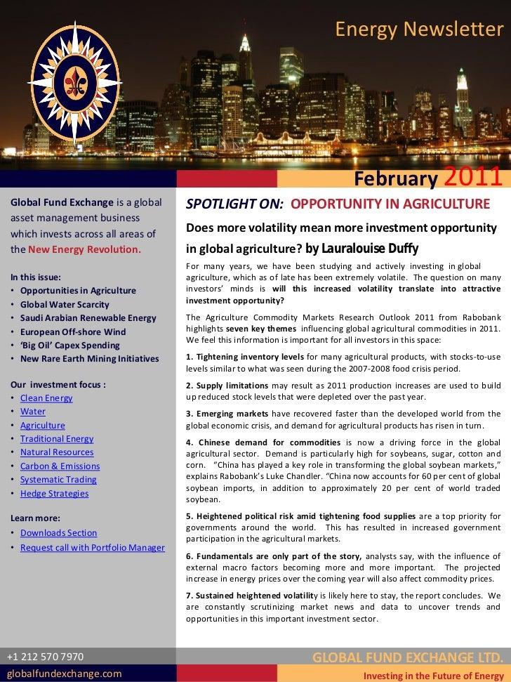 Energy Newsletter                                                                                    February 2011Global F...