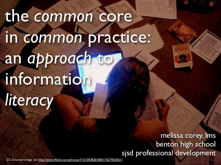 the common corein common practice:an approach toinformationliteracy                                                       ...