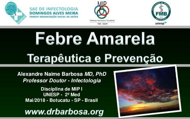 Alexandre Naime Barbosa MD, PhD Professor Doutor - Infectologia Disciplina de MIP I UNESP - 2º Med Mai/2018 - Botucatu - S...