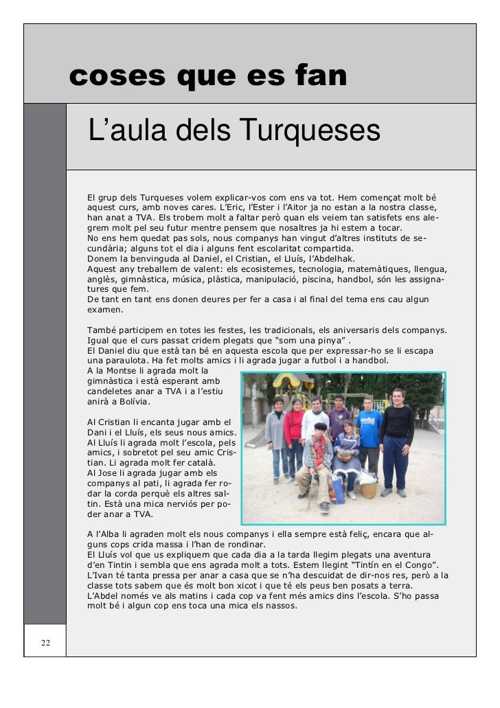 coses que es fan                   L'aula dels TurquesesAl mes de novembre vam anar d'excursió al Jardí Botànic de Barcelo...