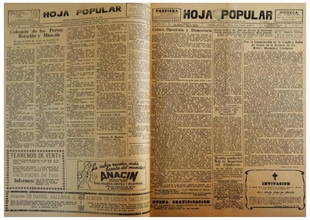 """El Periódico  """"Hoja Popular""""  del mes de  Febrero 1944"""