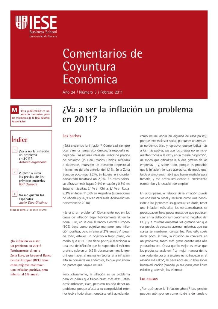 Comentarios de                                       Coyuntura                                       Económica            ...