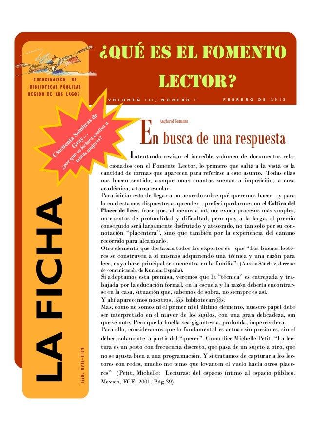 ¿QUÉ ES EL FOMENTO  COORDINACIÓNBIBLIOTECAS PÚBLICASREGION DE LOS LAGOS                         DE                        ...