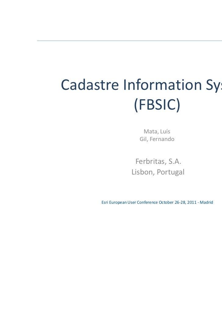 Cadastre Information System           (FBSIC)                         Mata, Luís                        Gil, Fernando     ...