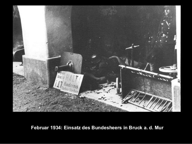 Februar 1934: Einsatz des Bundesheers in Bruck a. d. Mur