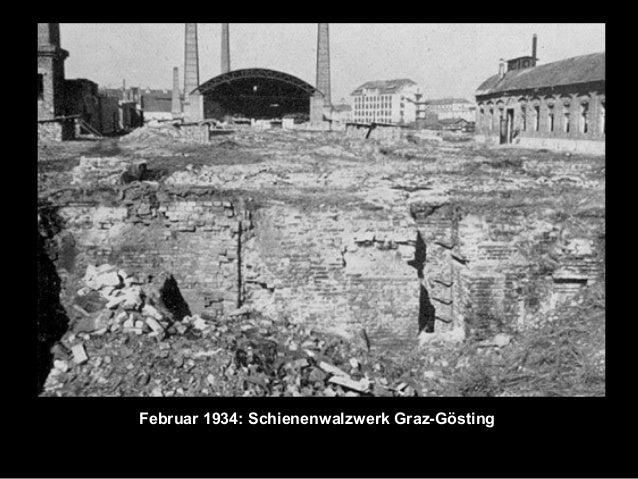 Februar 1934: Schienenwalzwerk Graz-Gösting