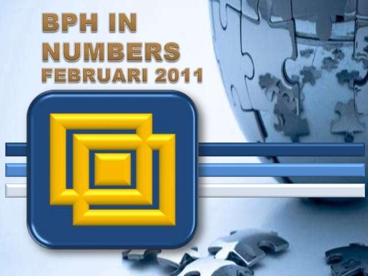 BPH IN NUMBERS <br />FEBRUARI 2011<br />