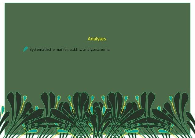 Analyses SystemaCschemanier,a.d.h.v.analyseschema