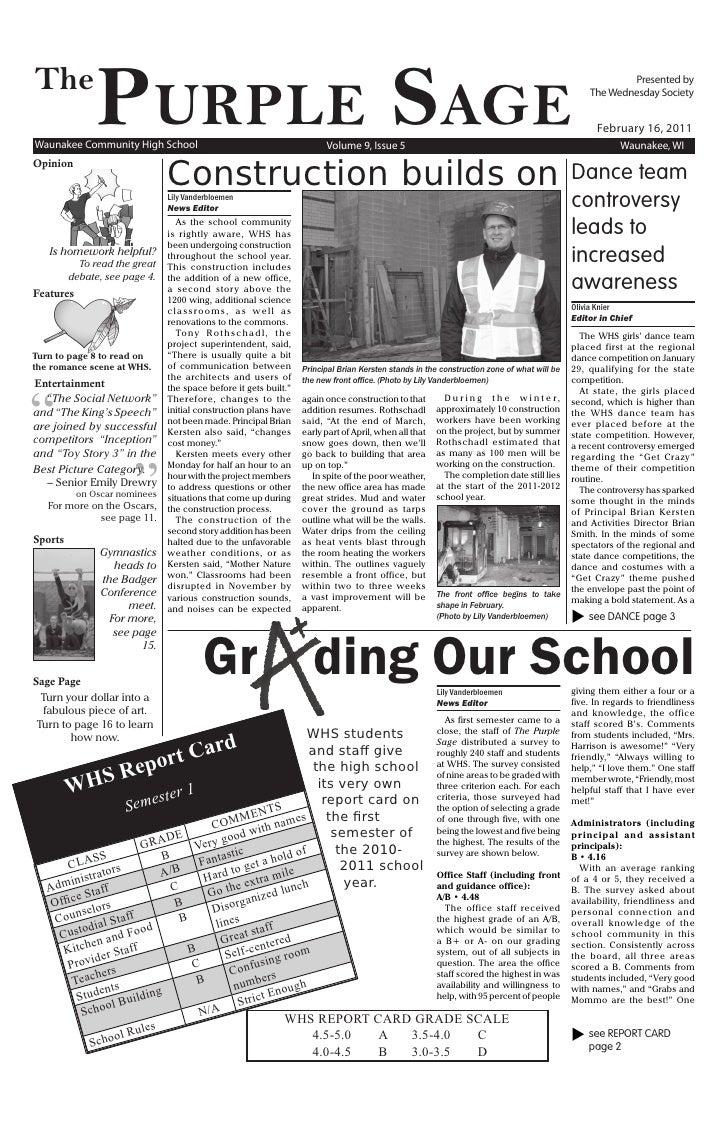 The               PurPle SageWaunakee Community High School                                               Volume 9, Issue ...