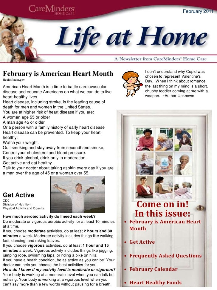 Come on in! <br />In this issue:<br /><ul><li>February is American Heart Month