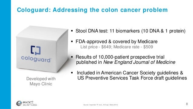 Corporate presentation february 2016 8 cologuard addressing the colon cancer toneelgroepblik Images
